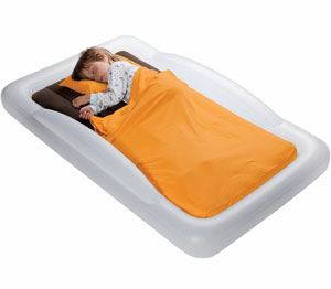 the shrunks tuckaire toddler travel bed with pump