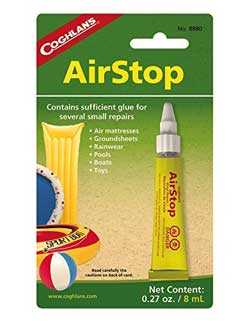 Image of the best vinyl patch kit - Coghlans Airstop Sealant