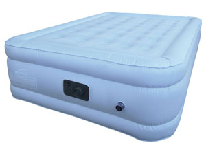 Blue Air Mattress Side Profile Airmattress Dot Com With Bamboo Topper