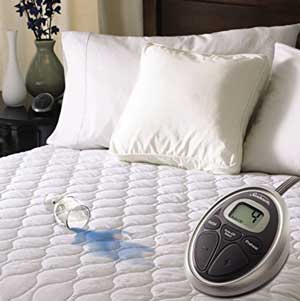 cleaning spill stain heated mattress topper
