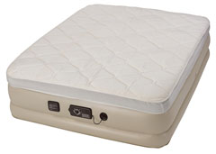 top airbed for guests - serta raised never flat pump pillow top