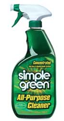 bottle of simple green vinyl cleaner