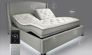 Image of sleep number luxury adjustable airbed i8 split king