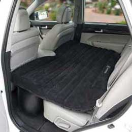 winterial black backseat inflatable bed for suv and trucks