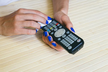 cleaning the remote control