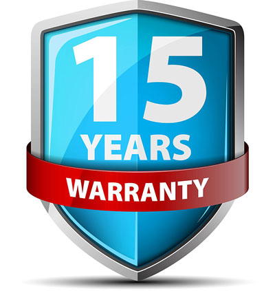 15 year warranty badge