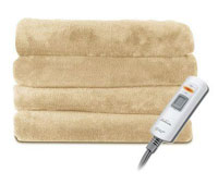 Sunbeam reversible sherpa mink heated throw