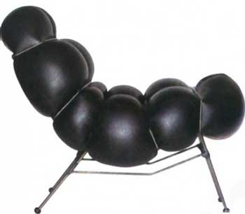 concept black inflatable chair