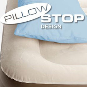 pillow stop design of the coleman support rest