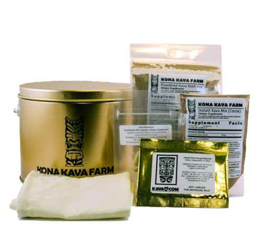 bag of top quality instant kava lateral root