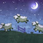 illustration sheep night-good sleep