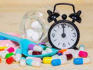 melatonin pills table counter
