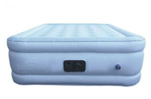 blue air mattress