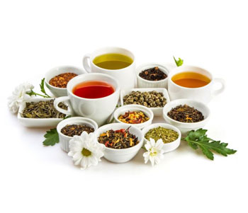selection of herbal teas