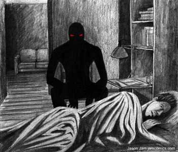 sleep paralysis illustration