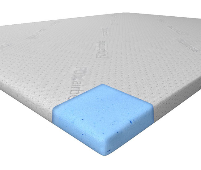 the foam topper of the airbed