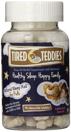 tired teddies melatonin for kids and toddlers