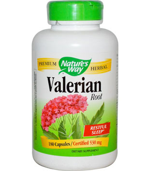 natures way valerian root bottle