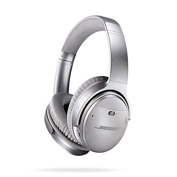 Bose QuietComfort 35 silver side view isolated