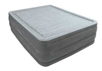 Intex air mattress - queen size gray raised