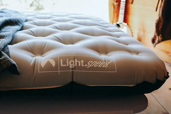 air mattress on frame