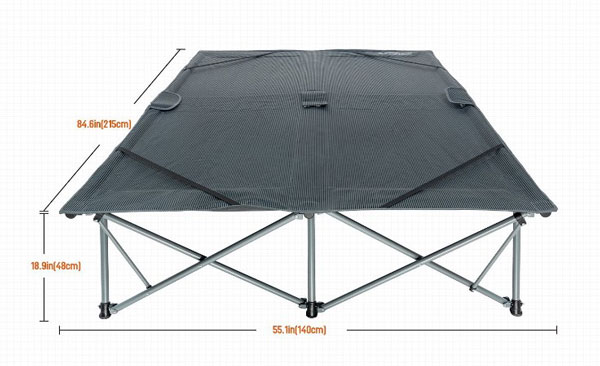 dimensions of kingcamp folding camping air mattress frame