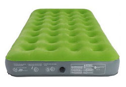 embark twin air bed front view