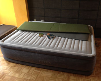 intex air mattress queen fully inflated