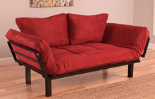 kodiak futon lounger sofa red