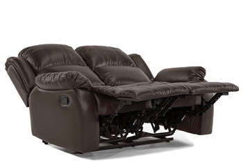 leather bonder 2 seat recliner by Divano