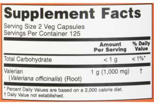 now supplement facts