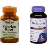 bottles of valerian root and melation