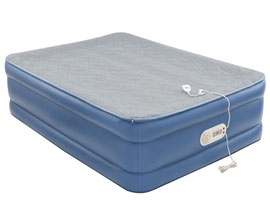 aerobed full size air mattress with foam topper front view