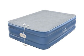 Review of the Aerobed Quilted air mattress with a foam topper