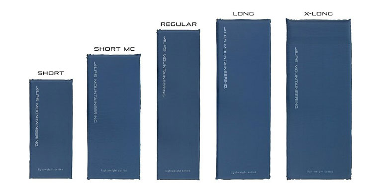 alps mountaineering self inflating sleeping pad sizes comparison