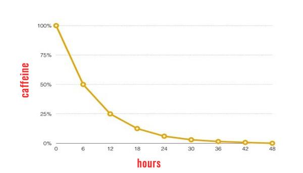 caffeine half life graph