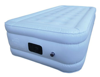 choice twin size airbed blue