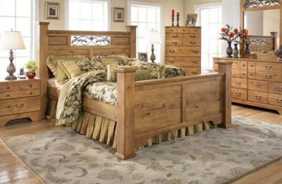 country styled bed