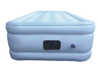 front view of the airbed