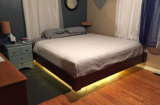 lighted floating-mattress-frame