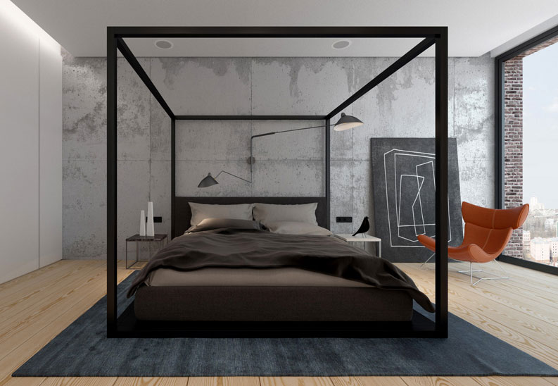 modern canopy bed contemporary