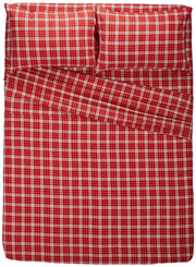 pinzon 160gsm plaid flannel sheets-twin