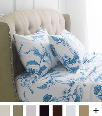 pinzon signature flannel sheet floral flannel sheets queen