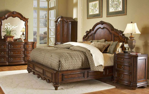 traditional style bed