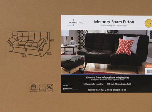 Mainstays Memory Foam Futon Multiple