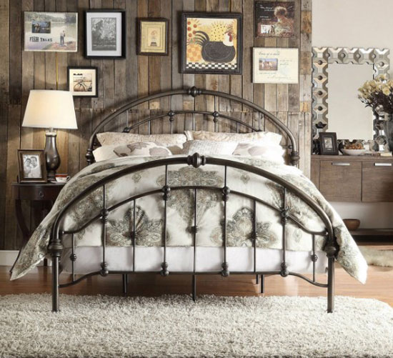vintage styled bedroom mattress