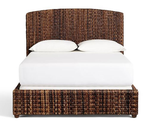 woven bed frame