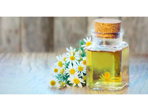 chamomile essential oil bottle