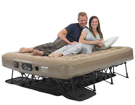 insta ez airbed with legs couple laying