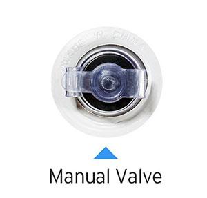 manual secondary valve of the etekcity air mattress